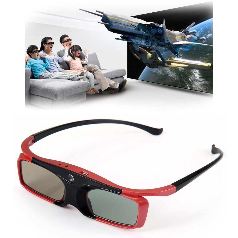 SFT SG16-DLP Active Shutter 3D Glasses for Enjoying 3D Movies with DLP-Link Projector Build-in 80 mAh ABS + PC 3D Glasses(China (Mainland))