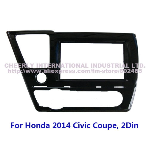 double din car facia fascia for honda for civic coupe lhd. Black Bedroom Furniture Sets. Home Design Ideas