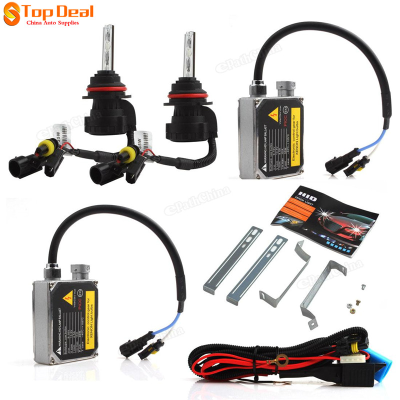 HID High Intensity Discharge Lamp Boxed Set with HID-Xenon lights Bulb + Electronic Ballast + HID Wiring Harness Controller(China (Mainland))