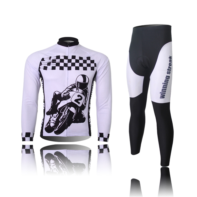 Hot Sale 2015 Fashion Men Cycling Set Long Sleeve Long Pants Breathable High Quality Open Zipper Locomotive Boy Pattern CYCS1062(China (Mainland))