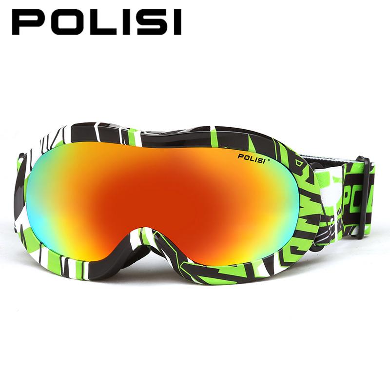 POLISI Children Outdoor Ski Goggles Kids Anti-Fog Polarized Snowmobile Glasses Boys Girls Snowboard Skiing Protective Eyewear
