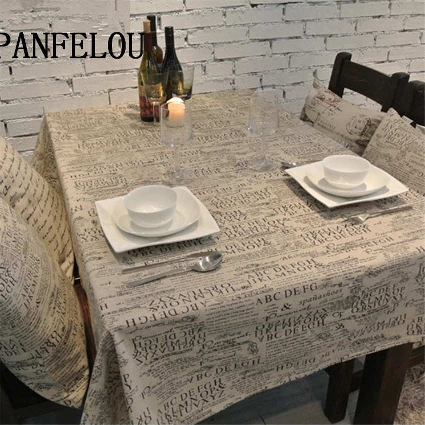 PANFELOU Romantic Gray thick easy to clean text poetic trend kitchen table cloth tea table cloth cover towel cloth(China (Mainland))