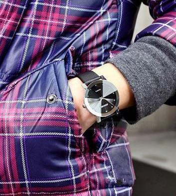 Đồng hồ nam dây da Sinobi T0689A