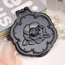 Rose flower candy color Two-sided mini pocket makeup mirror cosmetic compact mirrors espelho de maquiagem espejos de bolsillo