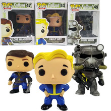 Funko Pop Fallout 4 Vault Boy Lone Wanderer Brotherhood of Steel Game Action Figure Toy Doll