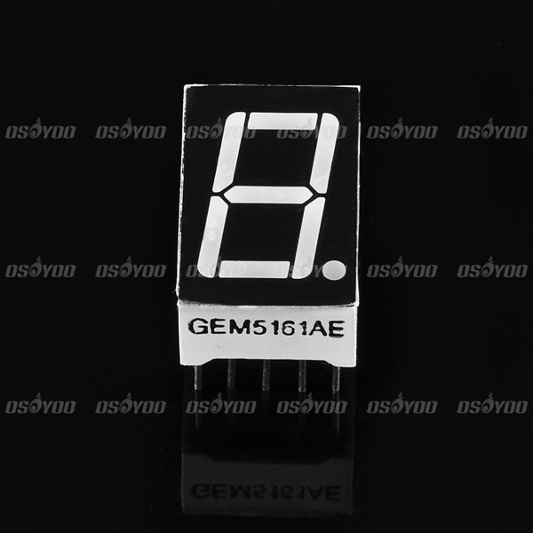 20pcs lot Wholesale 0 56 inch 1 Digit 7 Seven Segment Red Light LED Numeric Digital