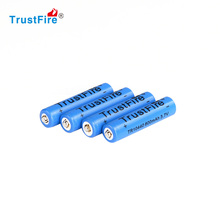 High Efficiency 4PCS/LOT AAA 10440 600mAh 3.7V TrustFire Rechargeable Lithium Battery(China (Mainland))