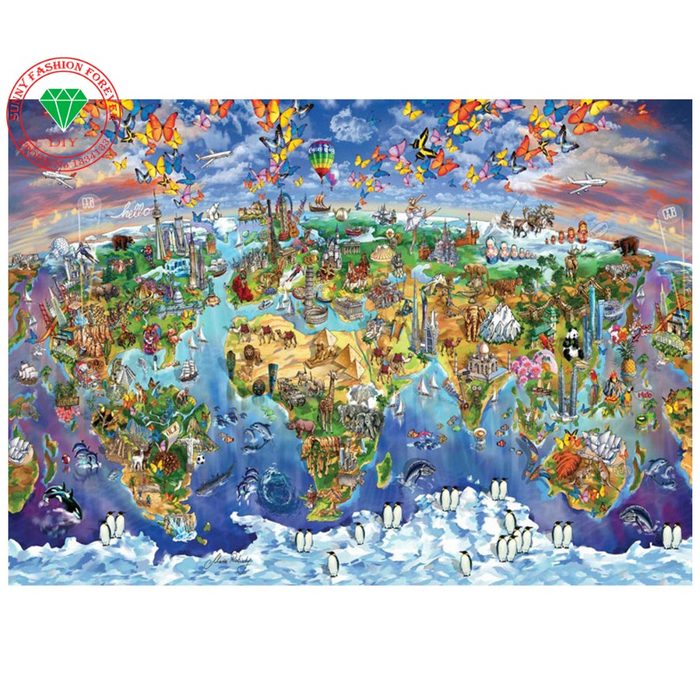 Bricolage diamant broderie paysage Carte Image peinture 5d plein strass collé peinture 3d point de croix mosaïque needlework(China (Mainland))