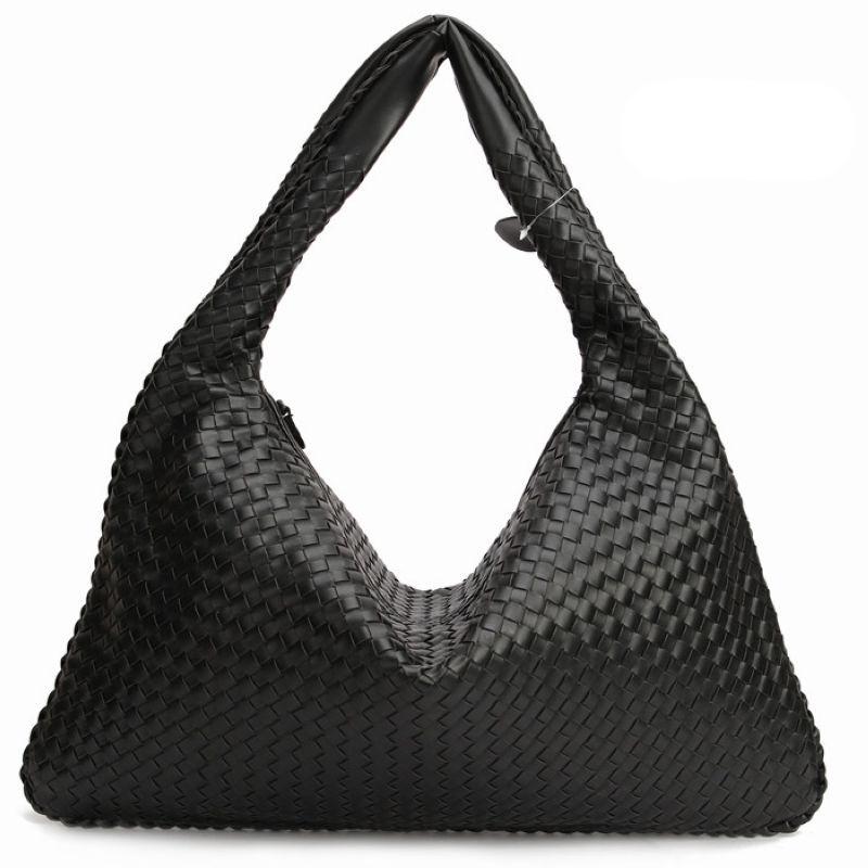 Фотография Hand-Weaving Women Bag\Handbag Fashion Casual Dumplings Bag 2016 New Leather Ms. Tote Shoulder bag~Star models~16B4