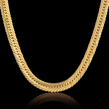 Buy Vintage Long Gold Chain Men Hip Hop Chain Necklace 8MM Gold Color Mens Thick Curb Chain Necklaces Male Jewelry Colar Collier for $12.98 in AliExpress store