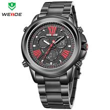 Nuevo WEIDE marca de hora Dual cuarzo de japón del reloj militar deportes relojes completa de acero reloj hombre reloj Relogios Masculinos