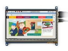 Waveshare RPi 7inch Rev2.1 1024*600 HDMI IPS Touch Screen Raspberry Pi 2B/3 B LCD Display Support Raspbian Ubuntu Windows 10 IoT(China (Mainland))