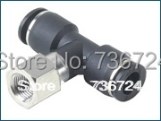 PBF4-02   tube size 4mm,Thread 1/4 Pneumatic push in fitting,plastic tee threaded fitting