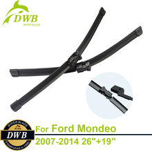 """Buy Wiper Blades Ford Mondeo Estate & Hatchback & Saloon 2007-2014 26""""+19"""", 2pcs Free Shipping, Unique Rubber Wipers for $15.09 in AliExpress store"""