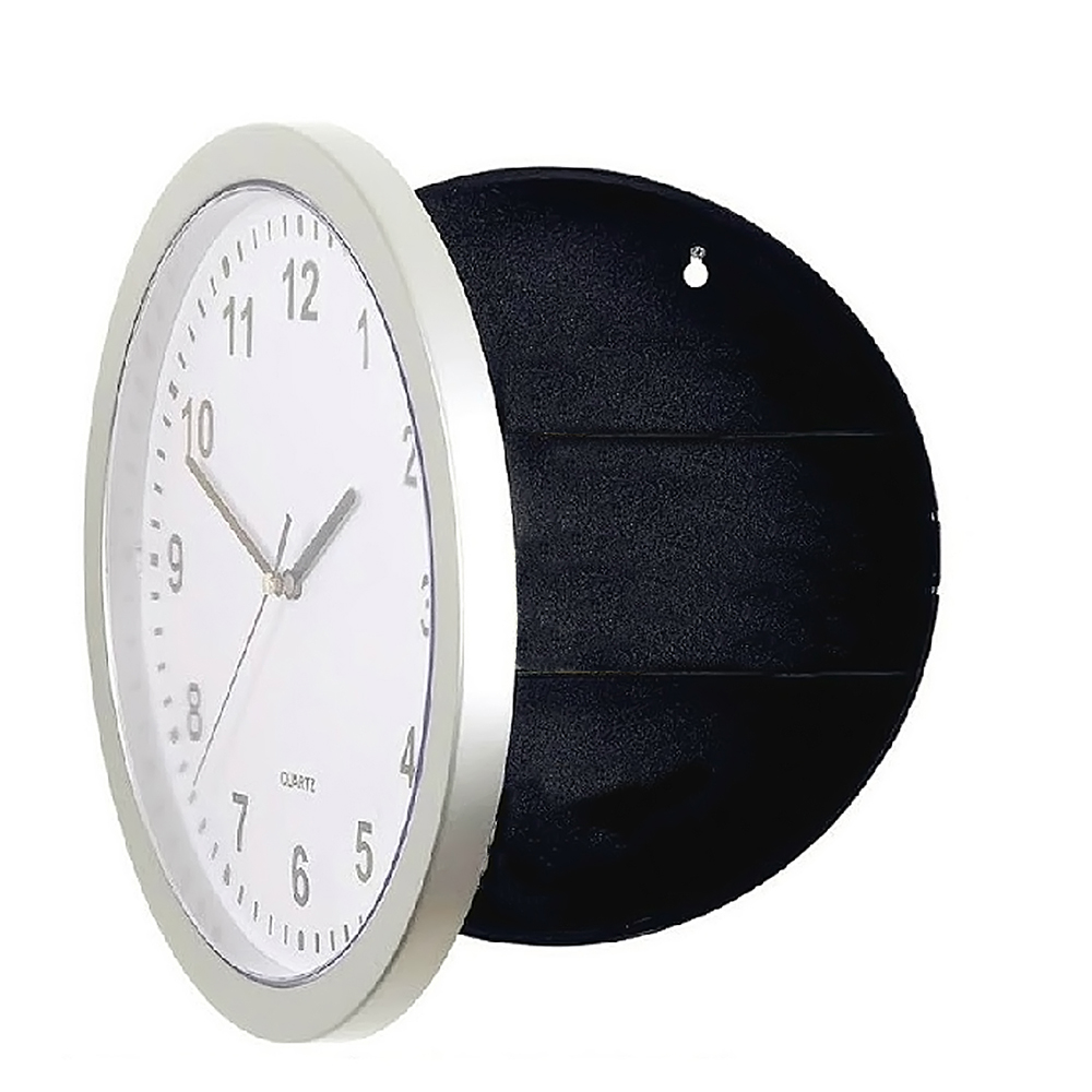 Novelty Wall Clock Diversion Safe Secret Stash Money Cash Jewelry Toy Storage Security Lock Box Tin Container Organizer Huf(China (Mainland))