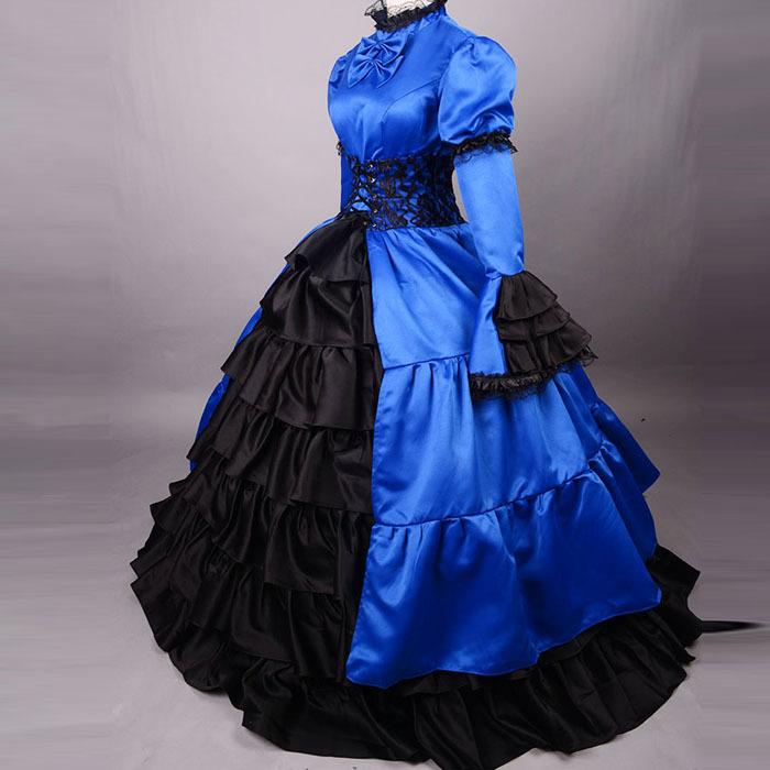 Blue Victorian Ball Gown - intellego