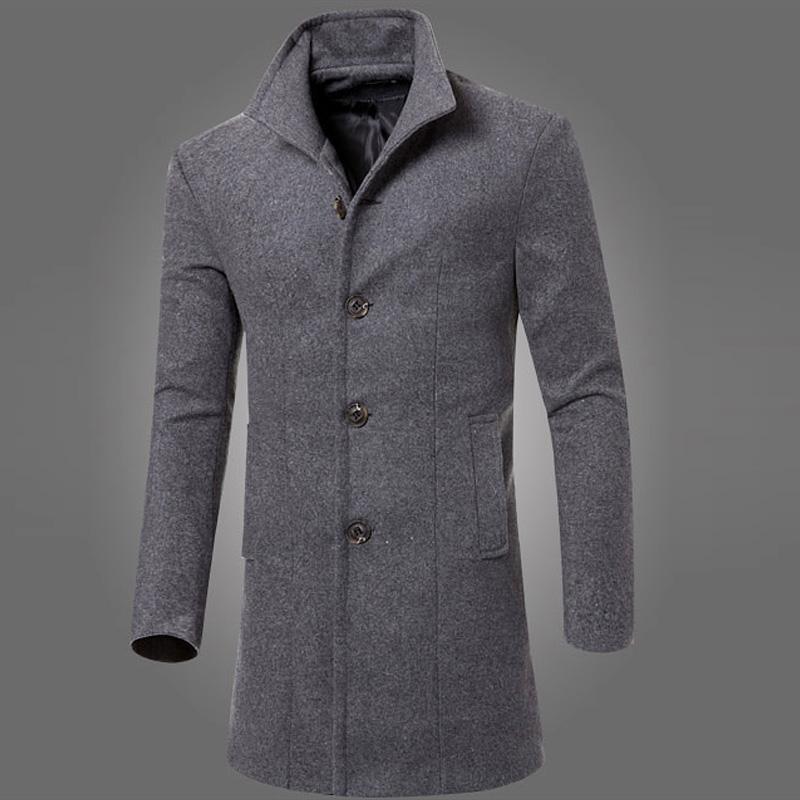 Men Fashion Winter Long Sleeve Coat Parka Overcoat Trench Navy Blue/Black/Burgundy/Army Green/Dark GrayОдежда и ак�е��уары<br><br><br>Aliexpress