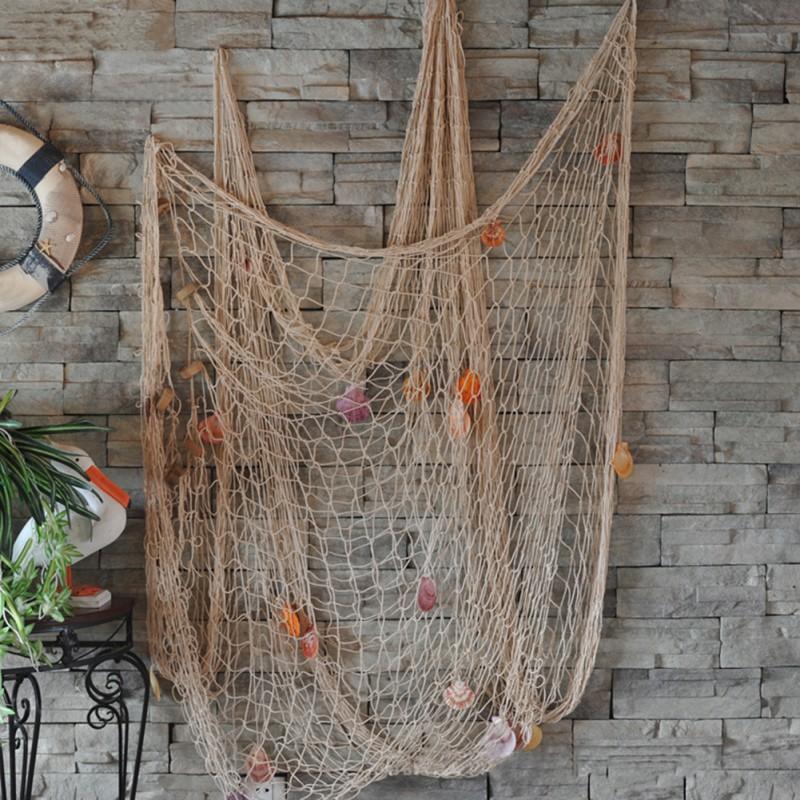 потолок из рыбацкой сети