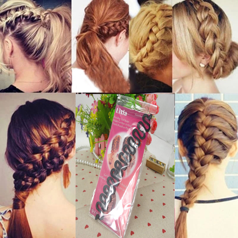 Women Lady Fashion Hair Styling Clip Stick Personality and distribute dish hair clips Bun Maker Braid Tool Hair Accessories(China (Mainland))