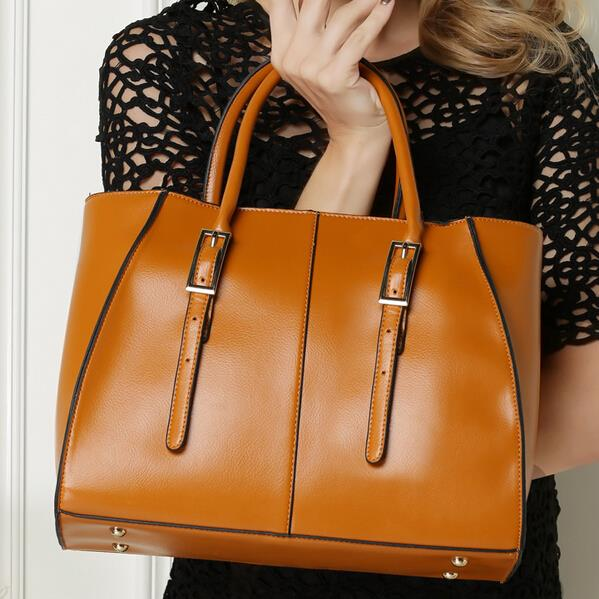 Women bag ladies genuine leather bags for women 2015 big women shoulder bags women leather handbags brand tote bag V2G50(China (Mainland))