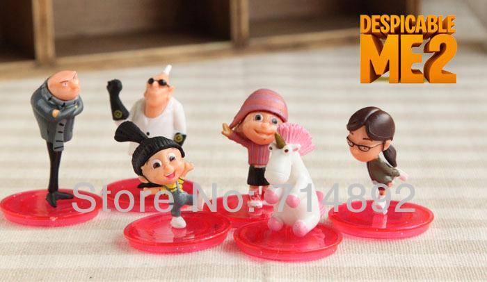 60pcs/set 3D Despicable Me Minion / Gru / Margo / Edith / Dr. Nefario Action Figures 4 PVC For Gift Free Shipping<br><br>Aliexpress