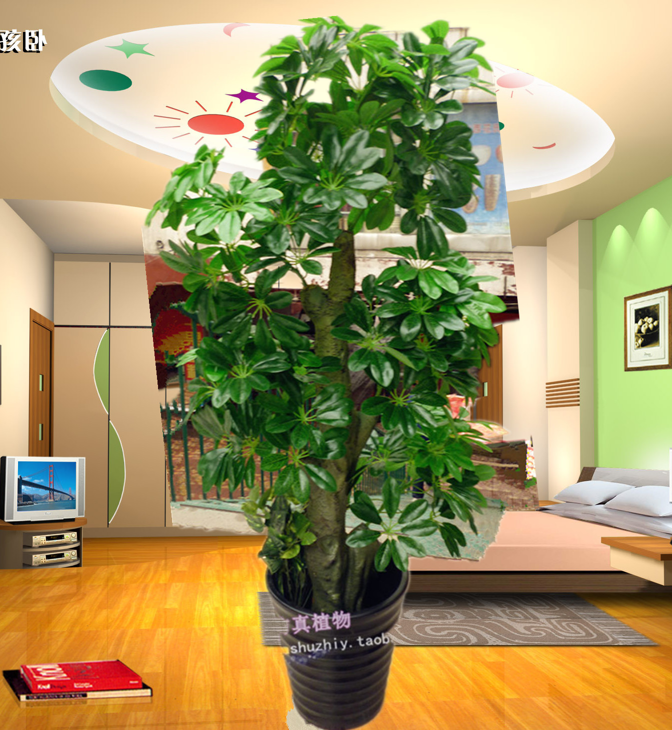 High artificial plants indoor decoration plastic flower for Artificial plants indoor decoration