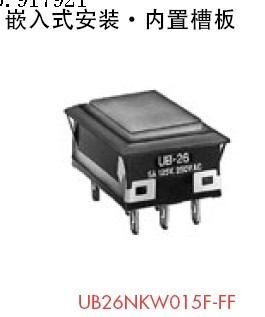 [ZOB] Flush mounting UB26NKW015F-FF button switch button switch genuine imported Japanese nkk  --5PCS/LOT<br>