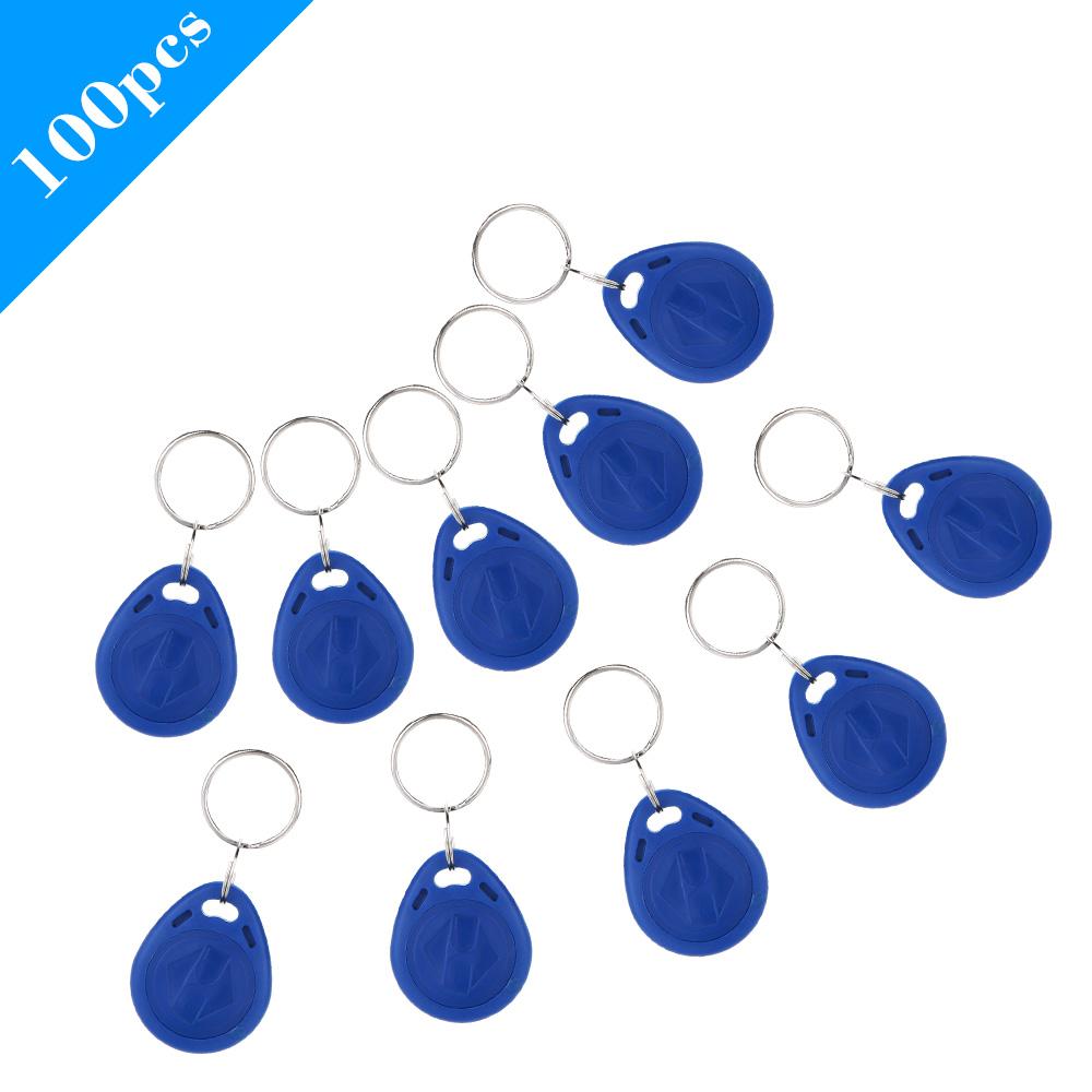 100pcs/lot TK4100 125KHz RFID Tag Cards Proximity Keyfobs Ring Door Control Entry Access EM Key Chain Card RFID Keyfbos(China (Mainland))