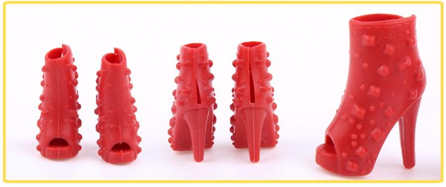 UCanaan 20 Objects Garments&Footwear for Barbie Doll 10 Garments Outfit + 10 Footwear Combine Type Combine Shade DIY Furnishings