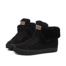 Phụ nữ giày mùa đông phụ nữ của mắt cá chân khởi động mới màu đen kaki màu xám màu thời trang thời trang giản dị phẳng ấm phụ nữ tuyết khởi động(China)