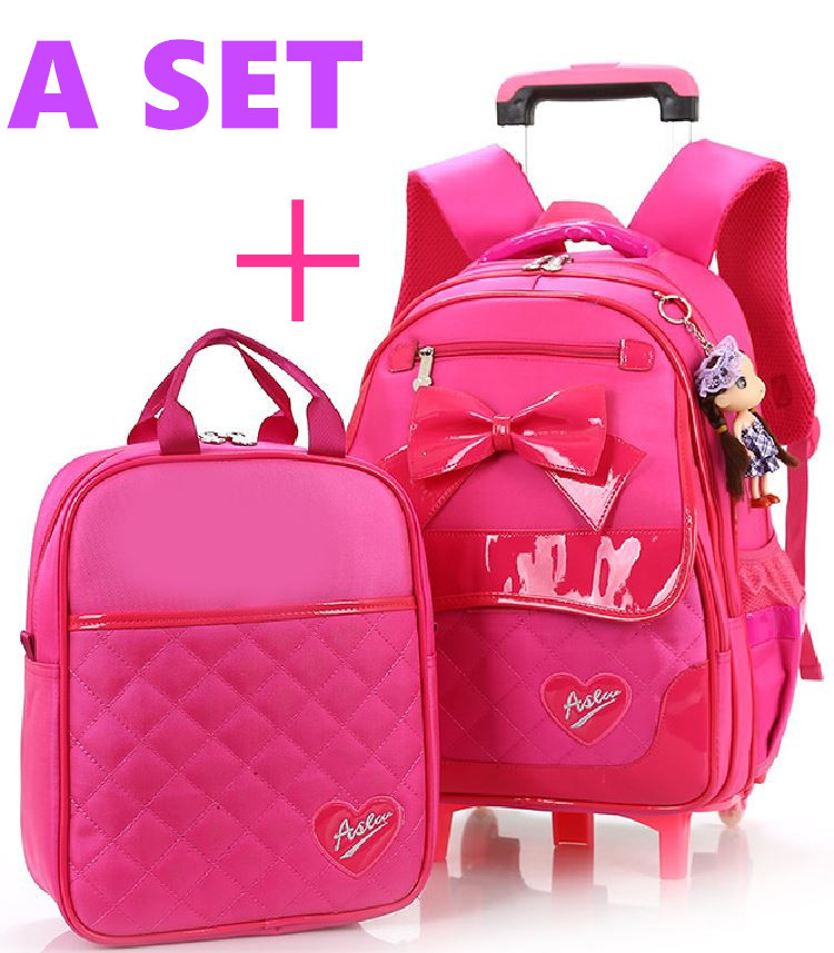 2015 Europe Trolley suitcase high school Kid trolley bag US style detachable PU backpack waterproof - GREAT KHAN store