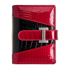 Buy High Brand Female Genuine Leather Card holder Wallet Women Bank id Credit Card Case Business Alligator Pattern Red for $8.80 in AliExpress store