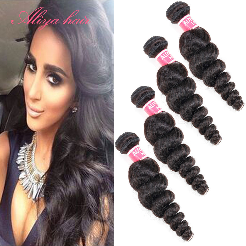 2015 Limited time discount peruvian loose wave  cute beauty loose wave 4 bundles Grade 7A aliya hair high quality and cheap <br><br>Aliexpress