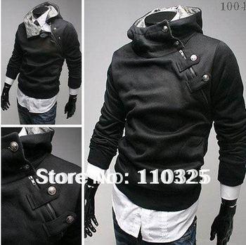 Free Shipping 2014 NEW Hot High Collar Men's Jackets ,Men's Sweatshirt,Dust Coat ,Hoodies men,cotton ,drop sihpping SS-M2