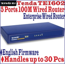 English Firmware Tenda TEI602 Wired Enterprise BROADBAND ROUTER 100Mbps 4 Port Access Point, Handles up to 30 PCs, Free&Shipping(China (Mainland))