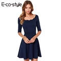 New Arrival 2016 Autumn Dress Sexy Women Dress Half Sleeve Package Hip Slim Fold Casual Dresses