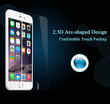 500pcs 6s tempered glass 0.26mm 9H 2.5D arc edge explosion proof tempered glass screen protector for iphone 6s 6 4.7""