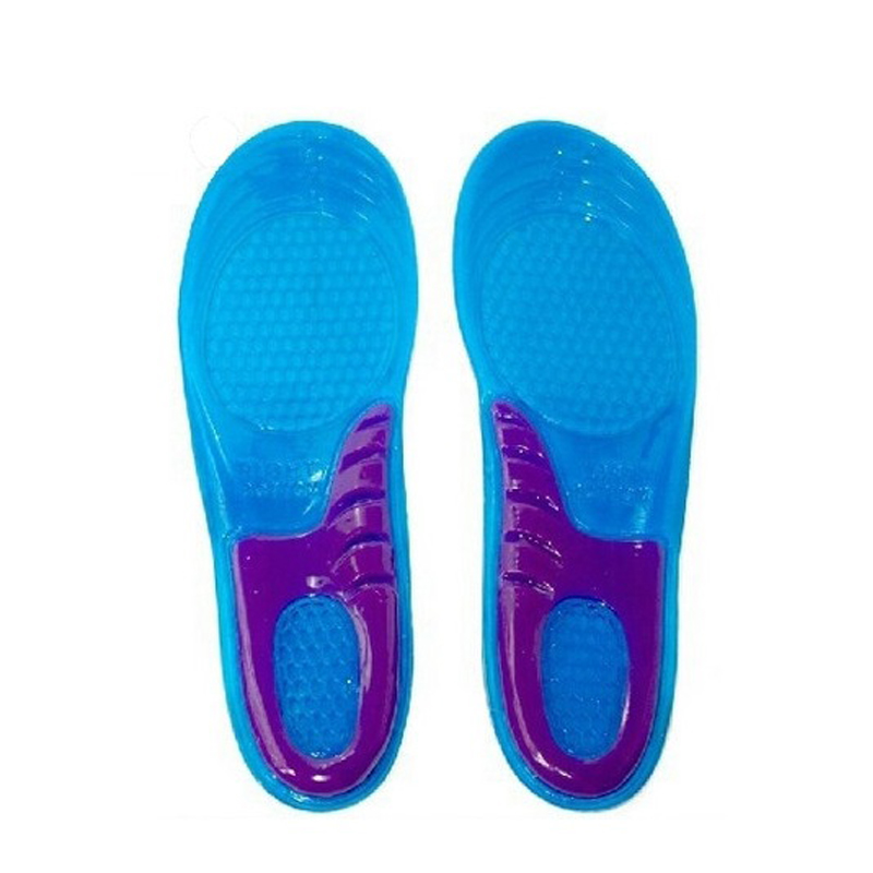1 pair Massaging silicone gel Insoles sport shoes shock absorption anti slip shoes pad sweat absorbing basketball 2pieces=1pair(China (Mainland))
