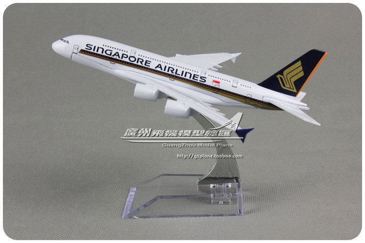 16cm Alloy Metal Air Singapore Airlines Plane Model Airbus A380 9V-SKA Airways Airplane Model Aircraft Mode Toy Gift(China (Mainland))