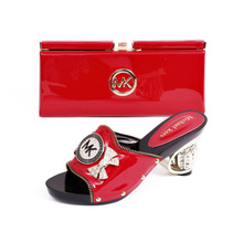 Size 38 42 Excellent Italian Shoes With Matching Bags African Women Shoes and Bags Set in