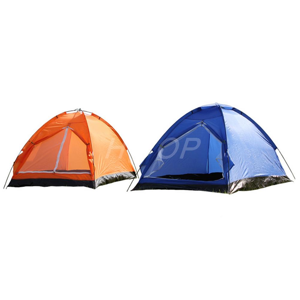 Double Tent Berth Lightweight Quick Pitch Dome Summer Festival Camping Tent Brand New orange and blue E8384(China (Mainland))