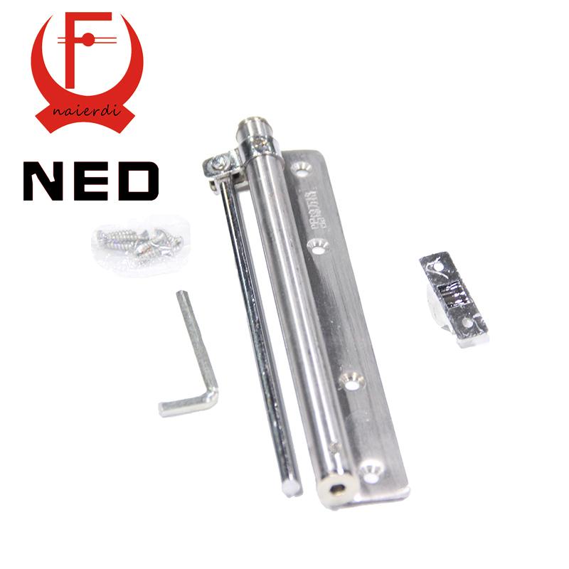 Home Office Doors Stainless Steel Automatic Door Spring Mini Door Closer Silver Tone strength for Door Weight Adjustable(China (Mainland))