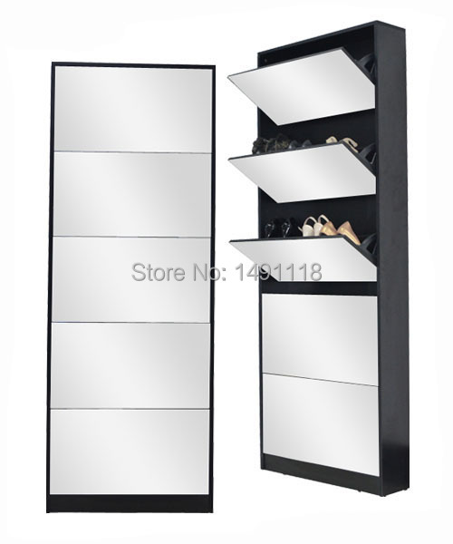 rangement chaussures miroir. Black Bedroom Furniture Sets. Home Design Ideas