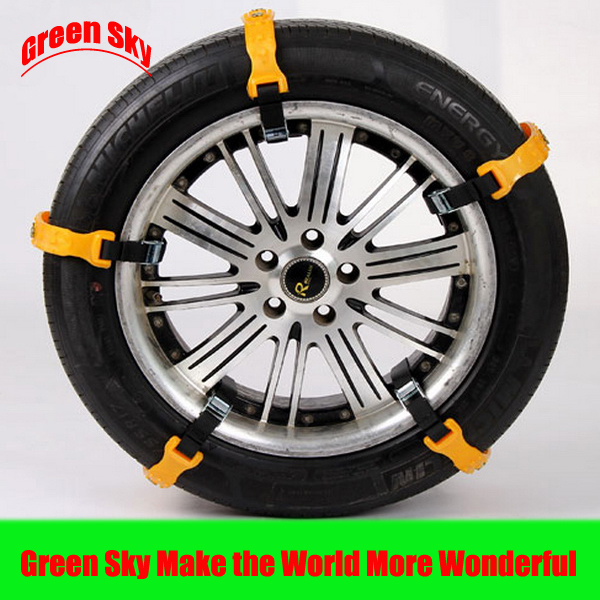 2015 New Arrival used on snow/mud/ice road car tyre snow chain(China (Mainland))