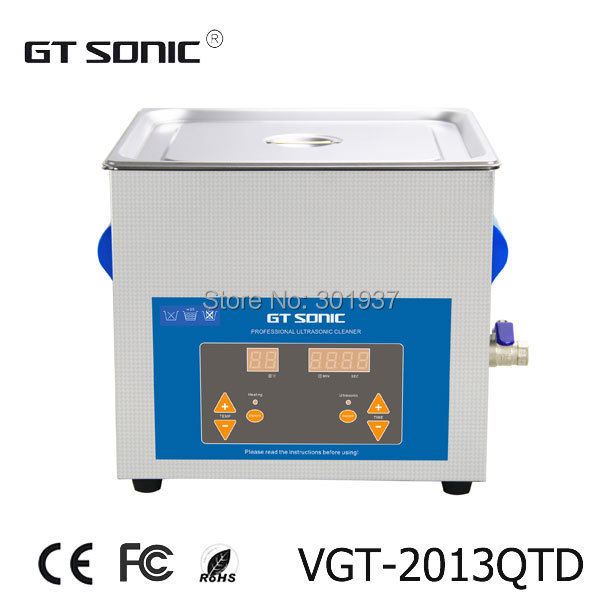 13L ultrasonic parts cleaner for injector cleaning, carburetor cleaning with timer and heater, with free basket VGT-2013QTD(China (Mainland))