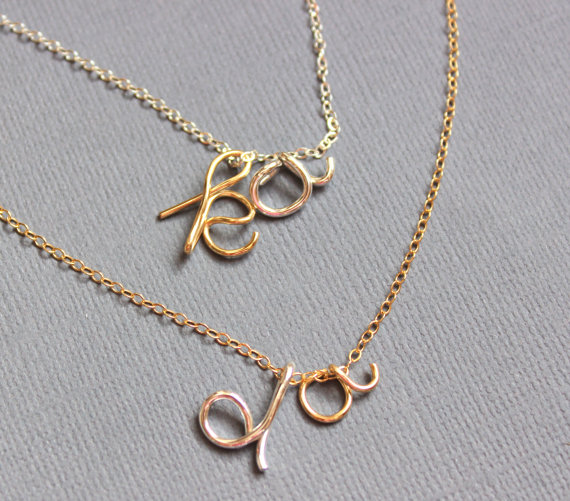 PINJEAS Custom Name Hawaiian Necklace handmade DIY Gold Silver Word Greeting stackable gift Wire Wrap Jewelry Mother's Day Gift(China (Mainland))