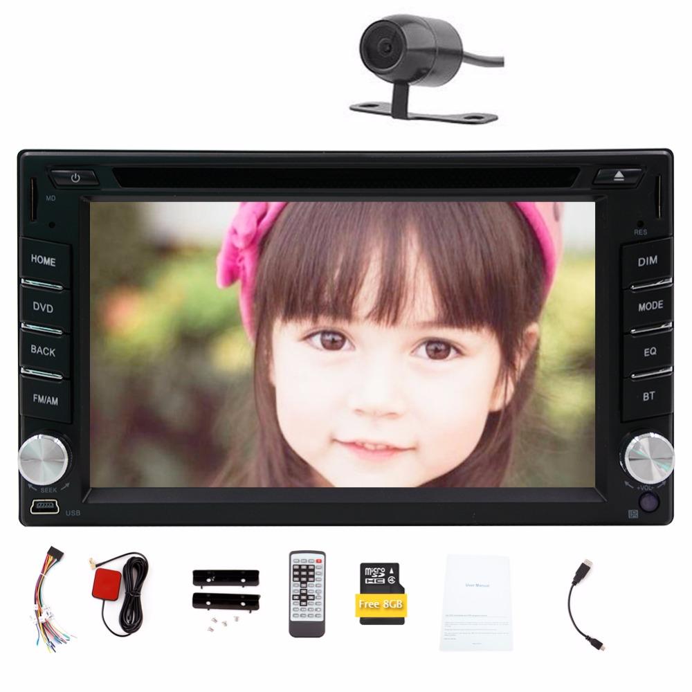 2 Din Double din Car DVD Player GPS Navigation Car Stereo Car PC Head Unit Bluetooth Free Wireless Rear Camera Car Radio(China (Mainland))