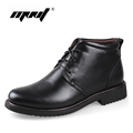 Genuine Leather Men Boots Handmade Super Warm Men Winter Shoes High Quality Ankle Boots For Autumn
