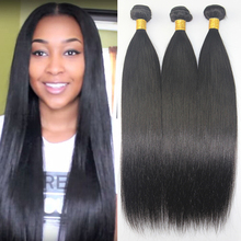 Brazilian virgin hair straight 3pcs Lot FS hair products 100% unprocessed virgin human hair weave Brazilian straight hair(China (Mainland))