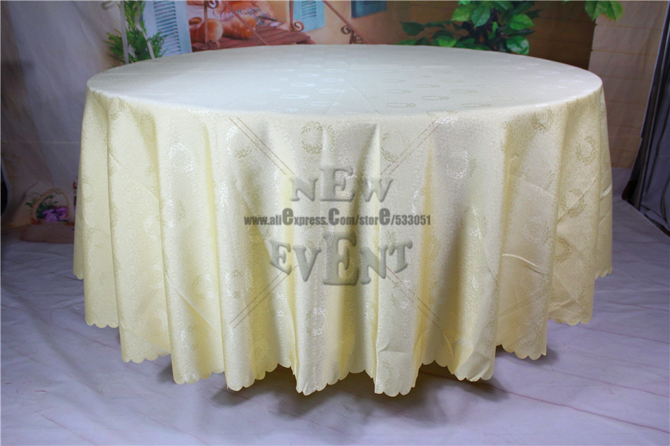 2016 New Design Champagne Color Badge Jacquard Tablecloth/Table Linen For Wedding Home Decorations/Wedding Supplies(China (Mainland))
